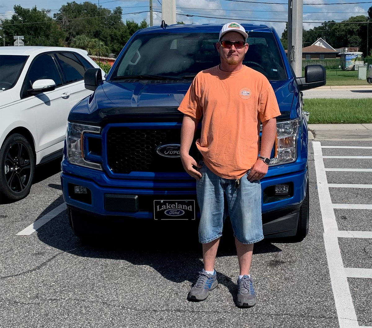 Bryan Randall came from #WinterHaven to #LakelandFord to get his new #F150 - #LookingGood Bryan and a #GreatChoice - #ThankYou for your business and if we can do anything, don't hesitate... we're here for you! #NewTruck #BuiltFordTough #GreatDeal #Truck