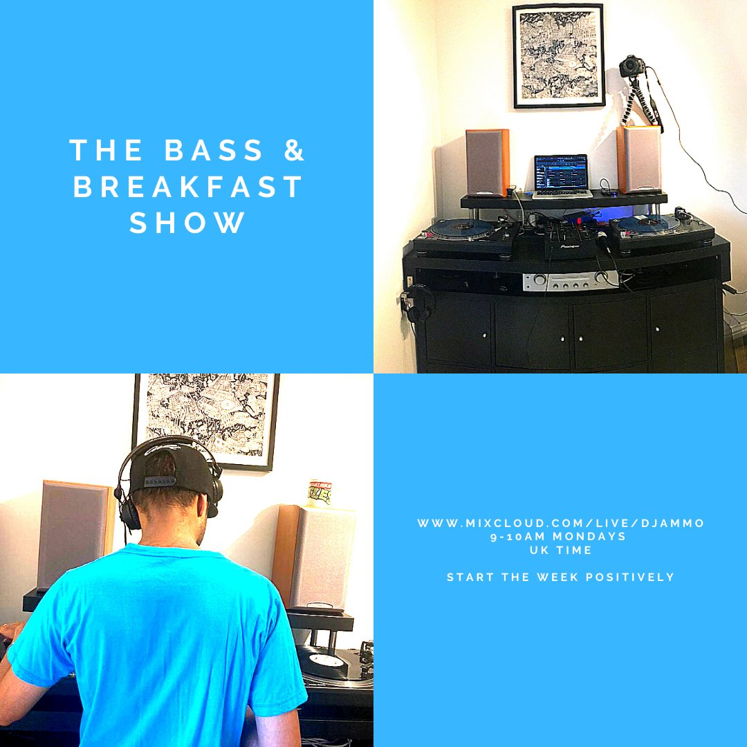 Check The #Bass & #Breakfast Show #MondayMorning 9-10AM UK time for #positivevibes #dubstep & #grime. . #mondaymotivation #workout #running #commute #livestream #dj #djmix #radio #internetradio #lockdown