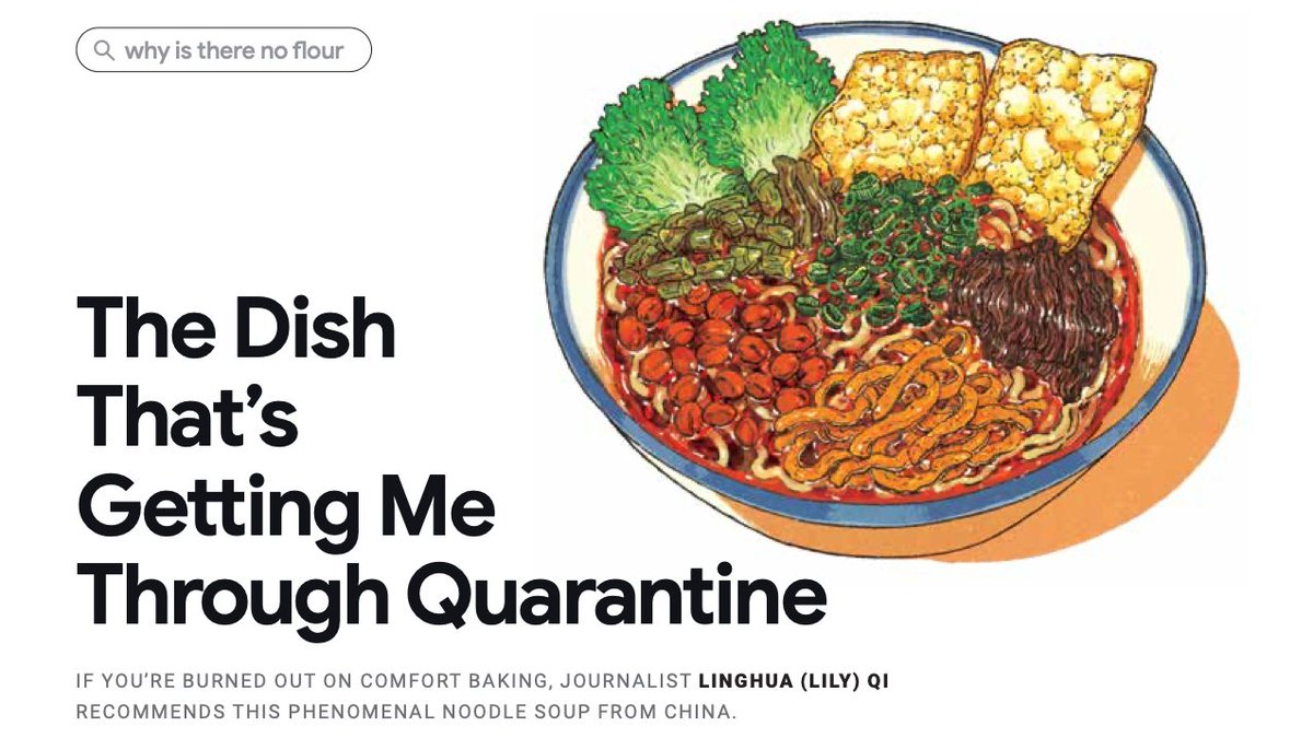 """A long-planned family trip was cancelled due to the pandemic. In my disappointment, I reached for the one thing that instantly brings me back home."" Journalist @lily7qi shares the Chinese noodle dish that's helping her get through quarantine."