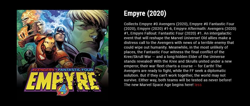We hope everyone is having a fun Weekend if you need anything to read, did you know you can read the entirety of @Marvel's event EMPYRE on #MarvelUnlimited  by: @Al_Ewing @DanSlott @ValerioSchiti & @martegracia   Marvel's app has a recommended reading order so check it out