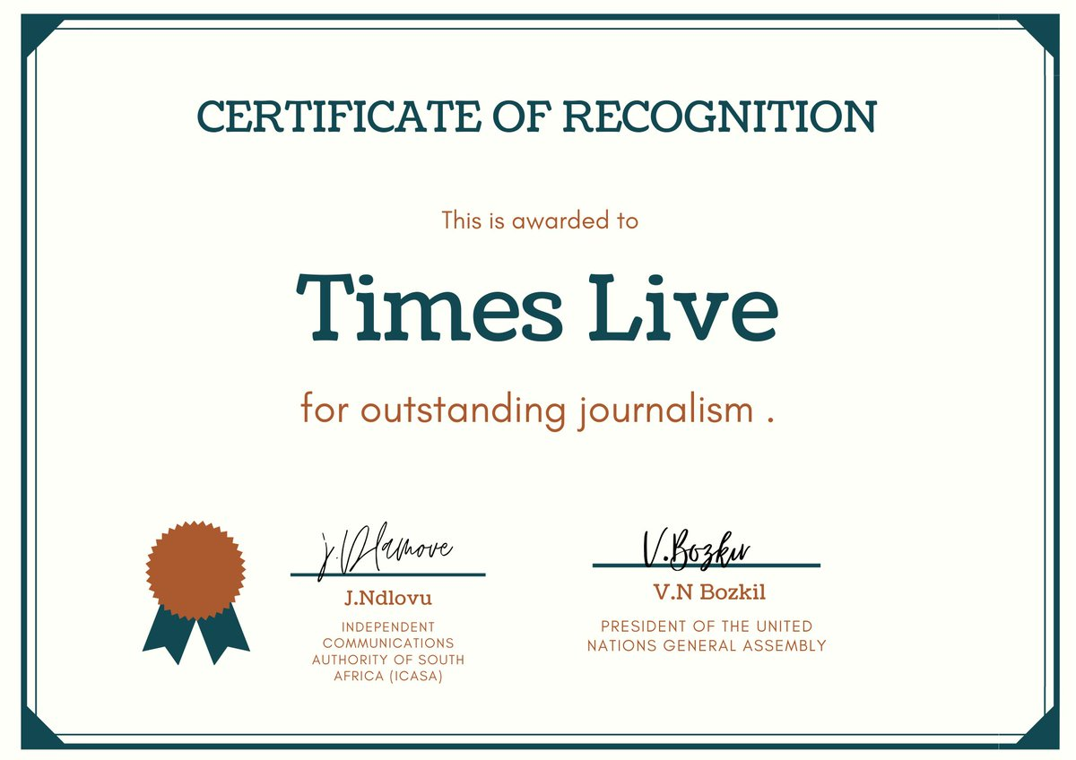 It my pleasure to present you and the team with this. twitter.com/TimesLIVE/stat…