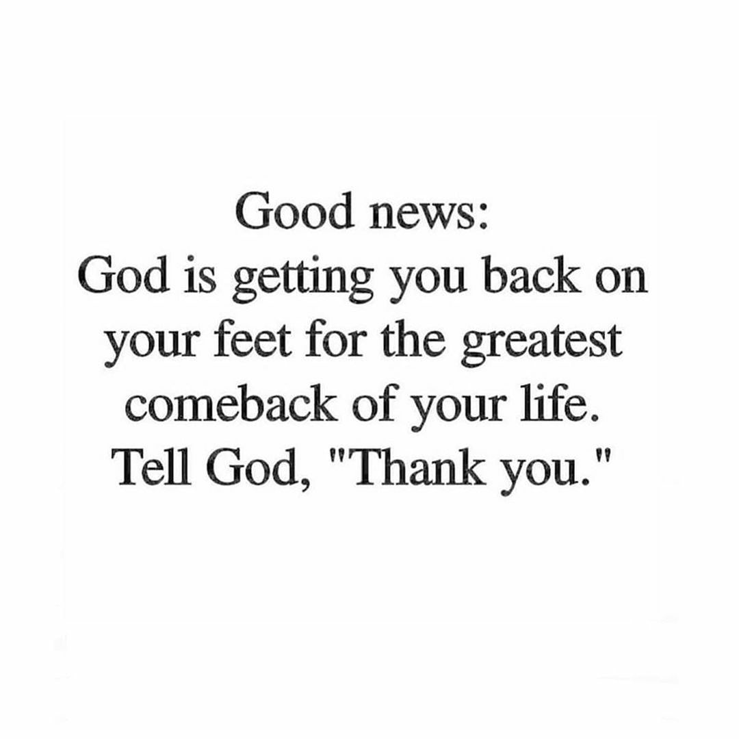 Thank you, God.   Reposted from @pastorkeion   #truestory #thankyou #God #goodnews #iseeyou