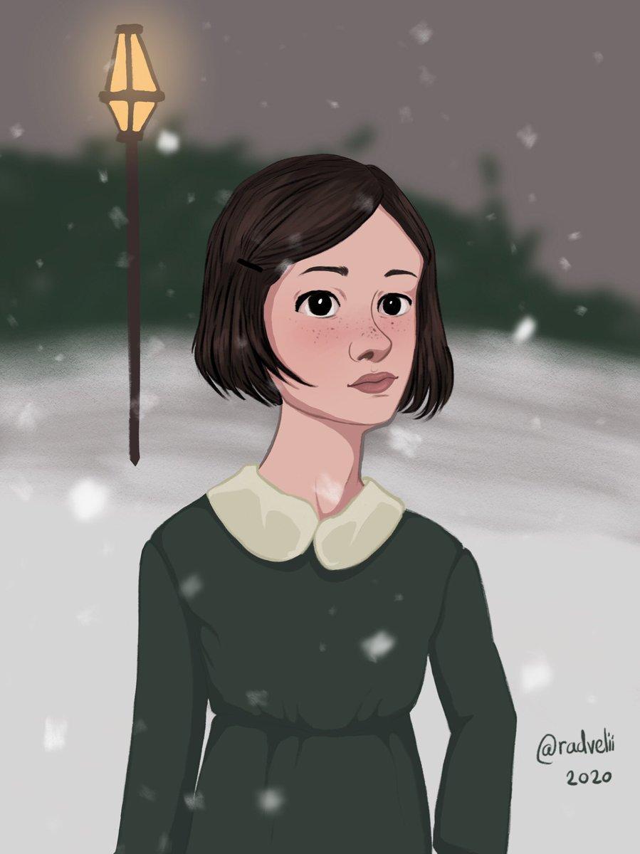 Lucy Pevensie  #art #digitalart #drawing #lucypevensie #narnia #thechroniclesofnarnia #dailyart #artwork #fanart #cslewis #artist #snow #winter #fantasy https://t.co/7Sx5pZQ6ks