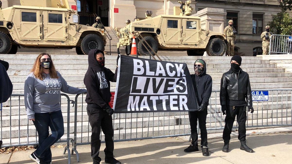 Black Lives Matter demonstrators have arrived at the Georgia State Captiol