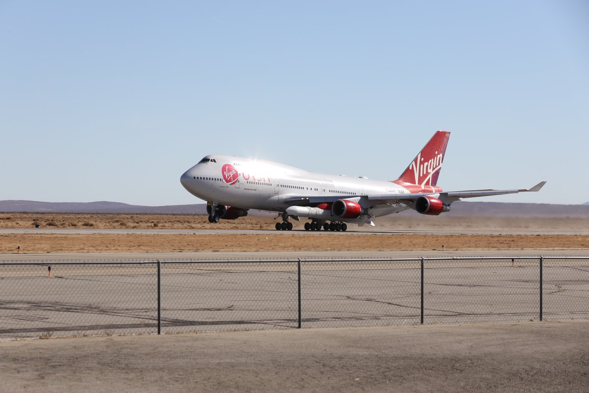 Replying to @Virgin_Orbit: Here's what today's takeoff looked like from Mojave Air and Space Port.