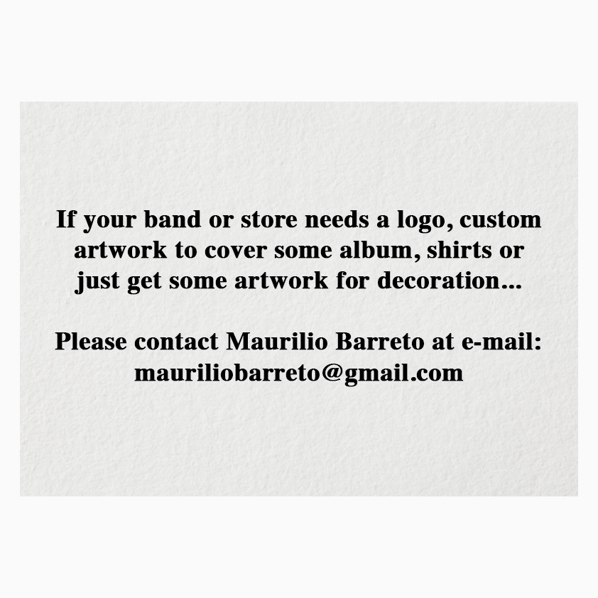 If your band or store needs a logo, custom artwork to cover some album, shirts or just get some artwork for decoration...  Please contact Maurilio Barreto at e-mail: mauriliobarreto@gmail.com  © Maurílio Barreto  #occultrock #blackmetal #doommetal #witch #country #dubai #viking https://t.co/OrOsLRsC4y