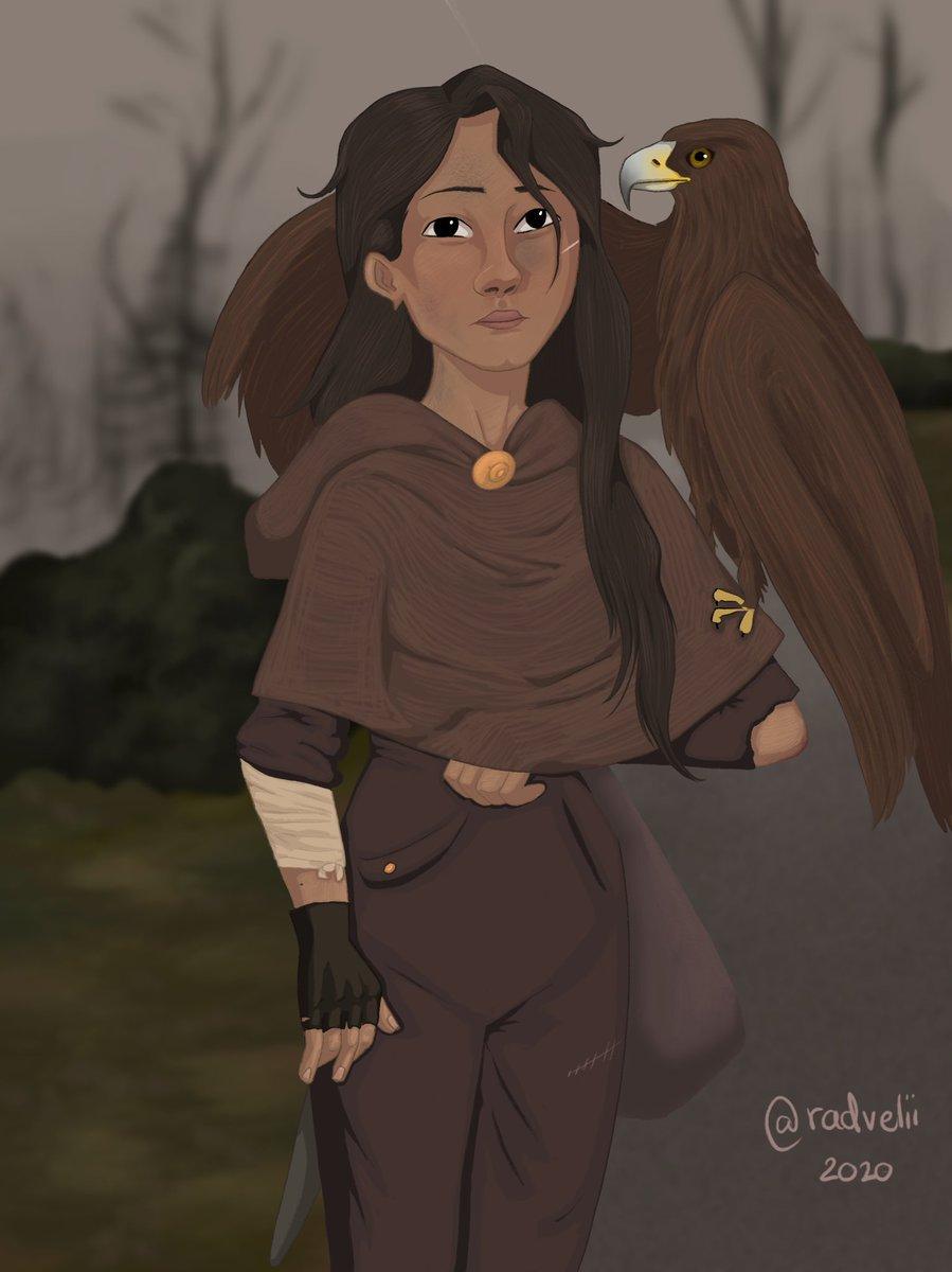 My new oc with her female eagle who she saved when she was a child  #art #originalart #oc #originalcharacter #characterdesign #digitalart #drawing #artist #eagle #artwork #dailyart #procreate https://t.co/foyV2J6kVy