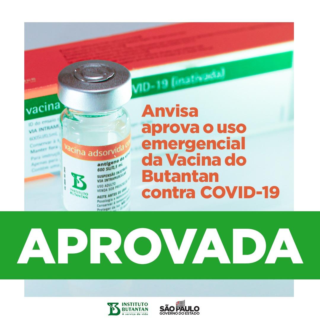 @SoniaOlyveyra @BlogdoNoblat Vitória da ciência, vitória do Brasil. Com a aprovação pela Anvisa, o próximo passo é iniciar logo a imunização contra a Covid-19. A vacina do Butantan vai salvar milhões de vidas. O dia é histórico. #podeconfiar #compartilheobem #édoButantan