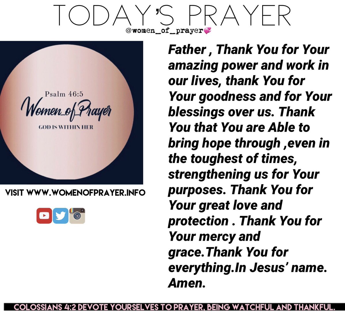 Blessed Sunday! #women #women_of_prayer #sundayprayer #pray #sundayvibes