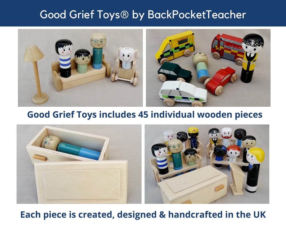 @NikkiJJ73 Thank you for following me. I tweet about #ChildBereavement & #grief, especially #bereavement & #SEND. I'm a consultant, author & trainer in this field I've just released Good Grief Toys