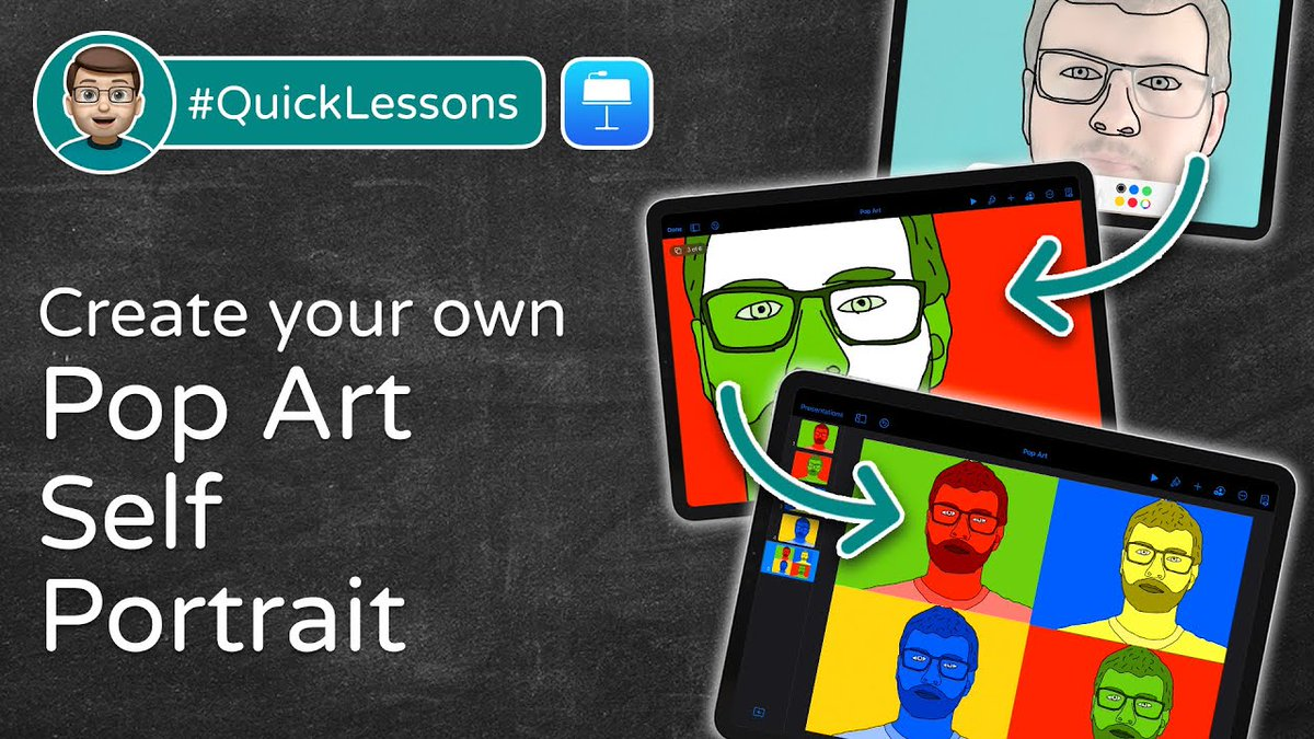 🎨Ever wanted to create some digital Pop Art with your pupils?  🖼️Let's make a Pop Art Self Portrait together in Keynote with this #QuickLesson  5⃣ friendly + easy to follow steps to go from blank page to masterpiece!  ➡️⬅️  #AppleEDUchat #EveryoneCanCreate