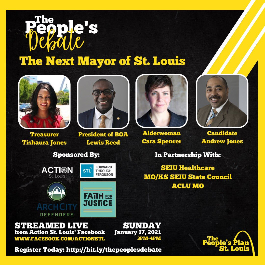 It's debate day in STL. For 4 years we've held these debate for major seats up for election in our region.   2021 is the year of a new mayor in our city. Join us at 3pm to hear their answers to important questions impacting our communities.