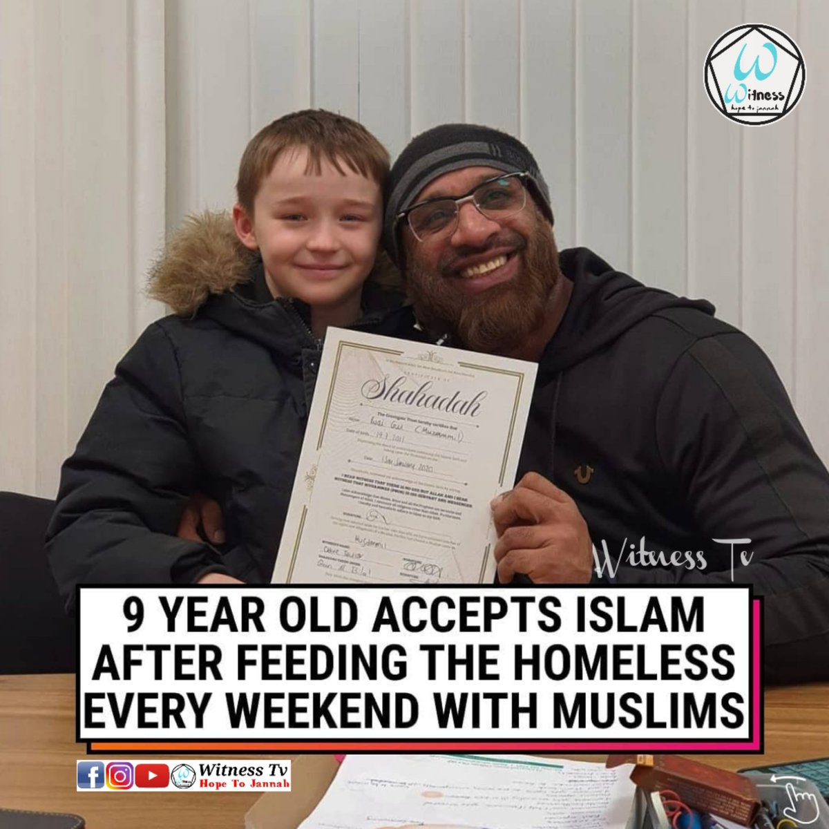 9 YEAR OLD ACCEPTS ISLAM AFTER FEEDING THE HOMELESS EVERY WEEKEND WITH MUSLIMS💚👇 https://t.co/SRohXbx8lG  #uk #uknews #news #breakingnews #globalnews #global #hr #un #trending #convert #revert #charity #love #peace #humanity #humanrights #muslim #islam #islamicnews #muslimnews https://t.co/XEgvtRX6Bs