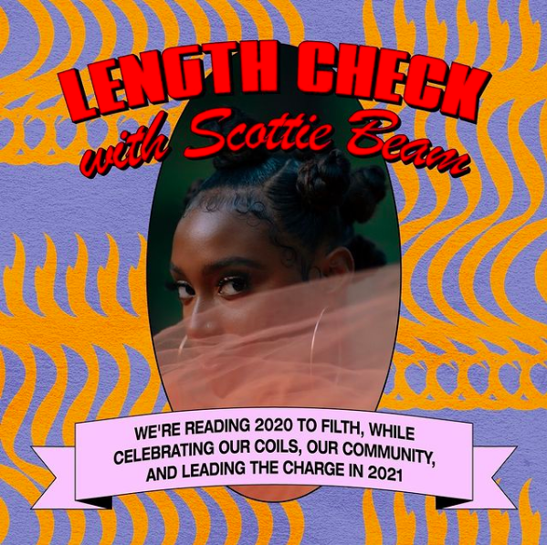 WASH DAY continues with Length Check featuring @ScottieBeam — tune in here 📺