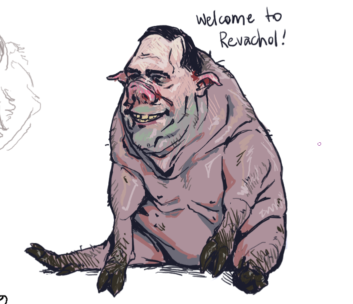 "some drawpile doodles again, the theme was ""anthropomorphic animals"" #DiscoElysium"