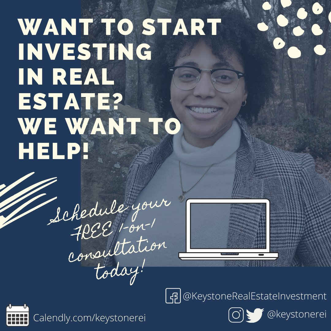 Want to invest in real estate, but still not sure how to start 🤔? We want to help! Schedule your FREE 1-hr consultation to discuss how Keystone REI can help you start your RE investing journey 👉   #realestate #realestateinvesting #realestatemarketing