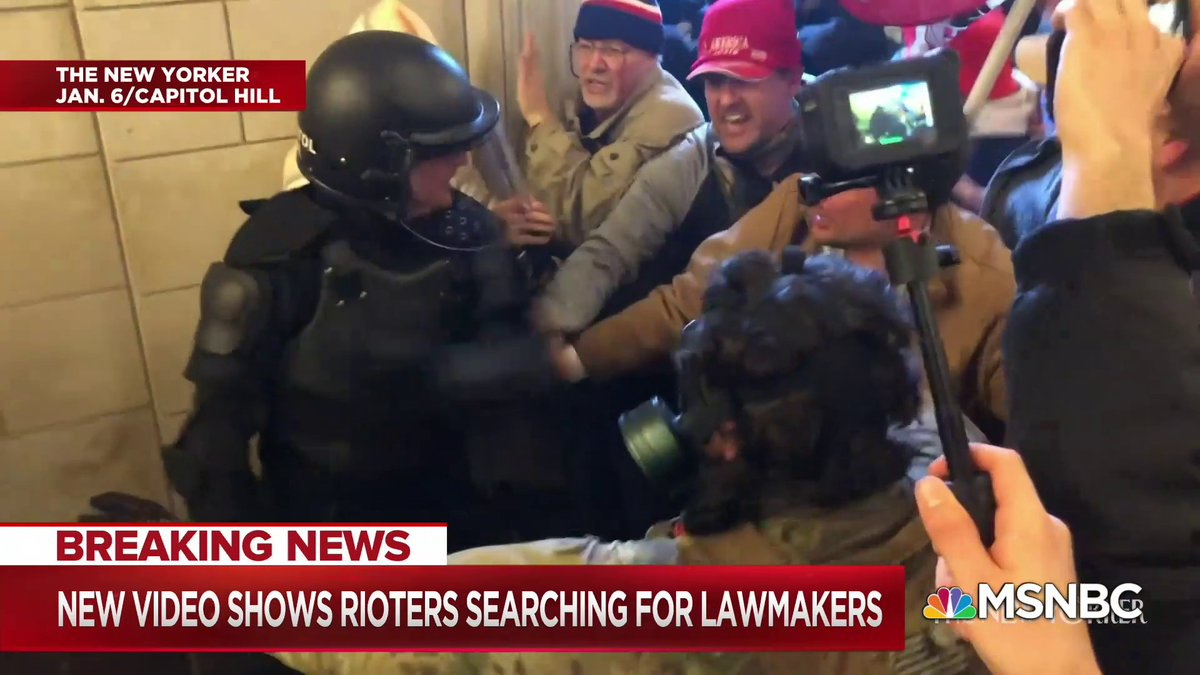 A new video released by The New Yorker shows rioters storming the U.S. Capitol, clashing with police, and rummaging through the Senate floor while taking photos.
