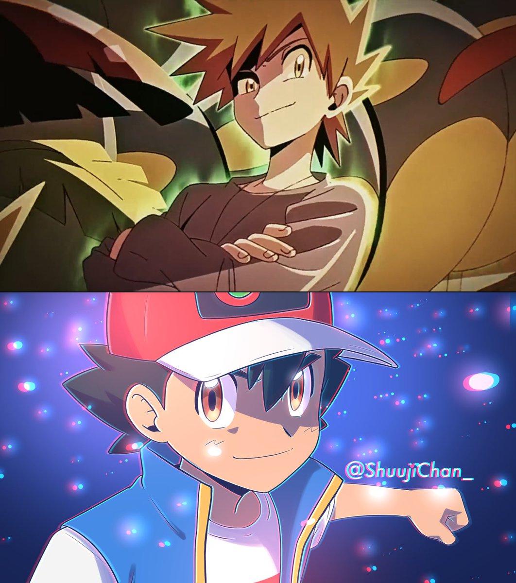 Replying to @ShuujiChan_: Pokemon Journeys x「GOTCHA!」 - Gary vs Ash -  #anipoke (2/2)