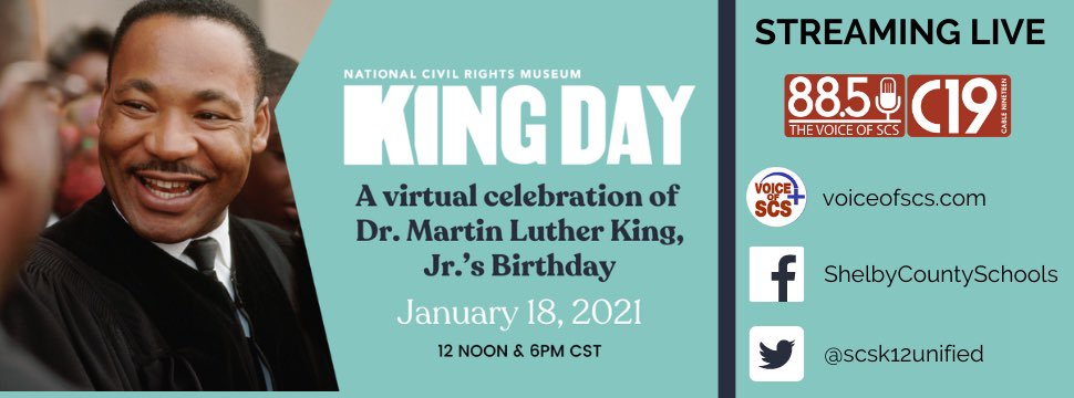 We are honored to be a livestream partner for the @NCRMuseum's King Day Celebrations tomorrow. Especially in times like these, it is vital to remember our history and trailblazers as we work to forge a future for ALL citizens of the world. #MLKDay2021