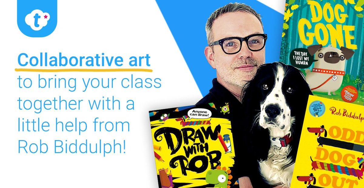 We've teamed up with the brilliant @RobBiddulph for a collaborative art project your whole class can join in with!  Give each child a square to colour & decorate then bring them all together to create a masterpiece -   @HarperCollinsCh #edutwitter