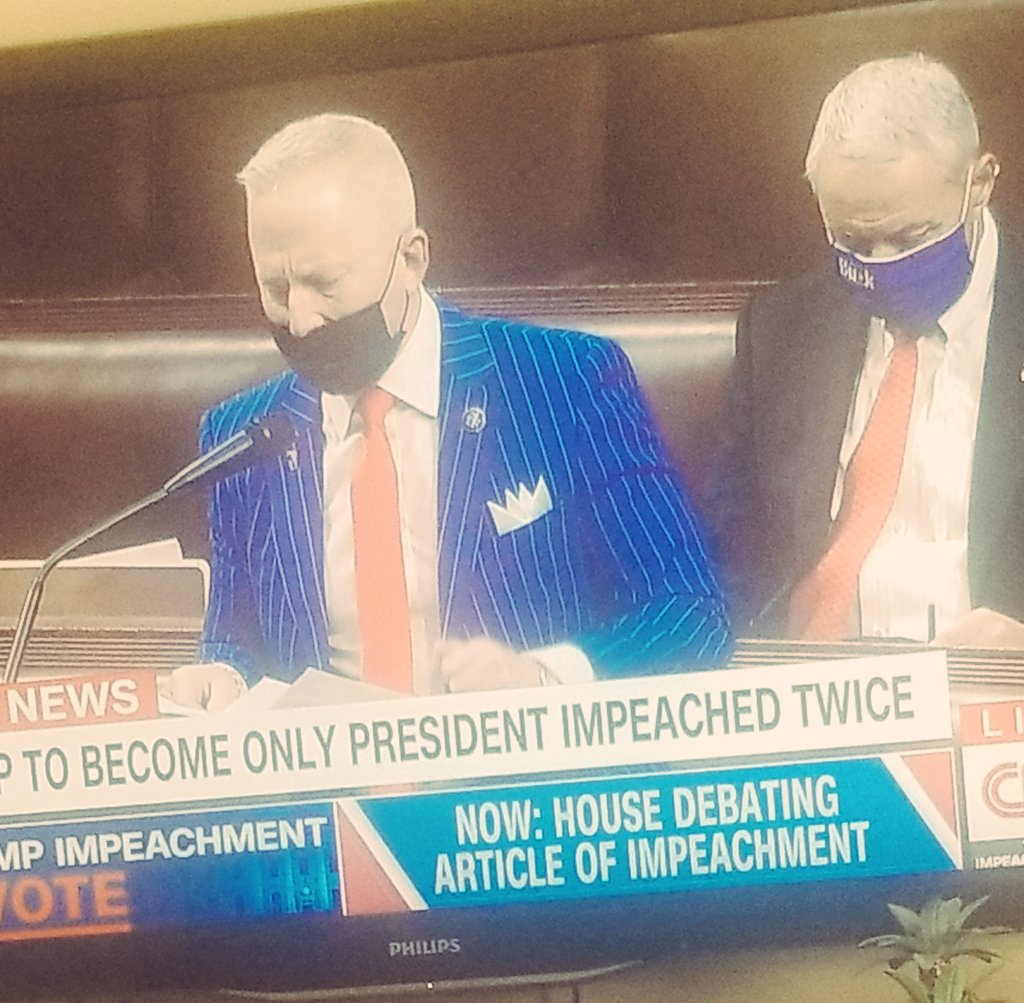WTF is this getup?! #ImpeachmentDay