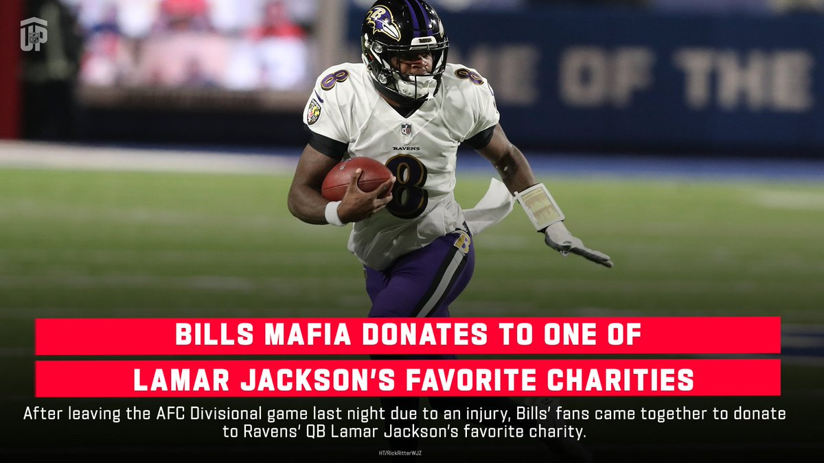 Bills Mafia pulled through to make over 3000 donations in Lamar's name to Blessings in a Backpack. (@Lj_era8)  📸: Perry Knots | HT/@RickRitterWJZ
