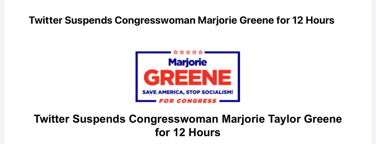 NEW: Twitter suspends the account of Rep. Marjorie Taylor Greene for 12 hours:
