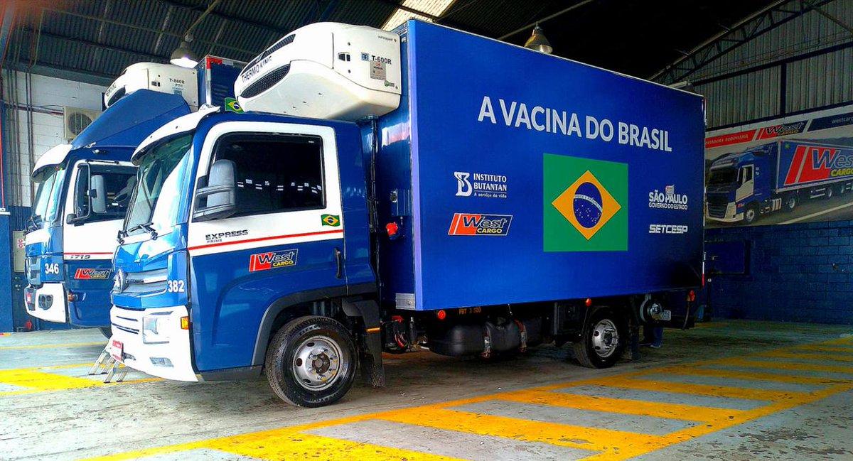 Ao todo, 4 milhões, 636 mil, 936 doses da Vacina do Butantan estão sendo enviadas para o Ministério da saude para a distribuição ao DF e outros Estados.