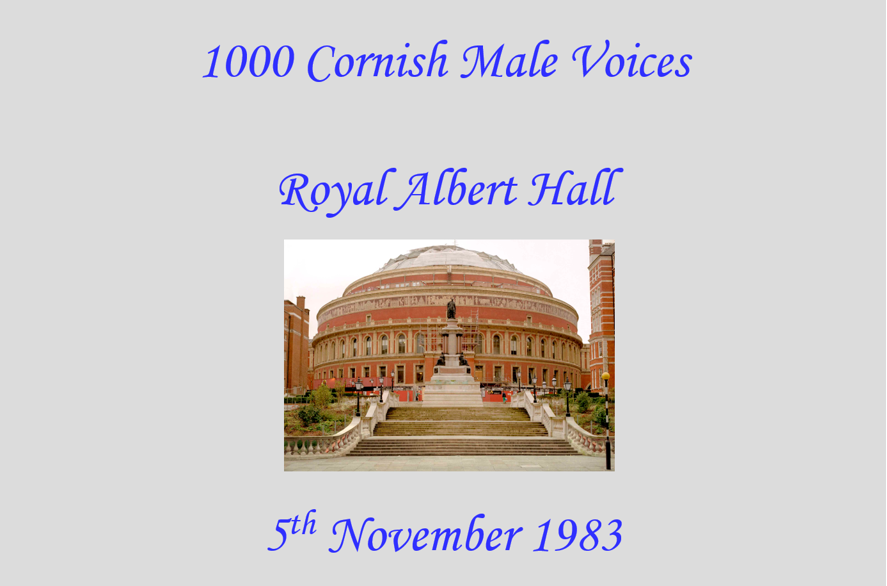 📢 Can you help? 📢 We're looking for people with memories of the 1000 #Cornish Male Voices event at the Royal Albert Hall 🗣️🎶 If you were there, either as a singer or an audience member, we would love to hear from you! Please RT! #cornwall #cornishmusic #singers #malevoicechoir