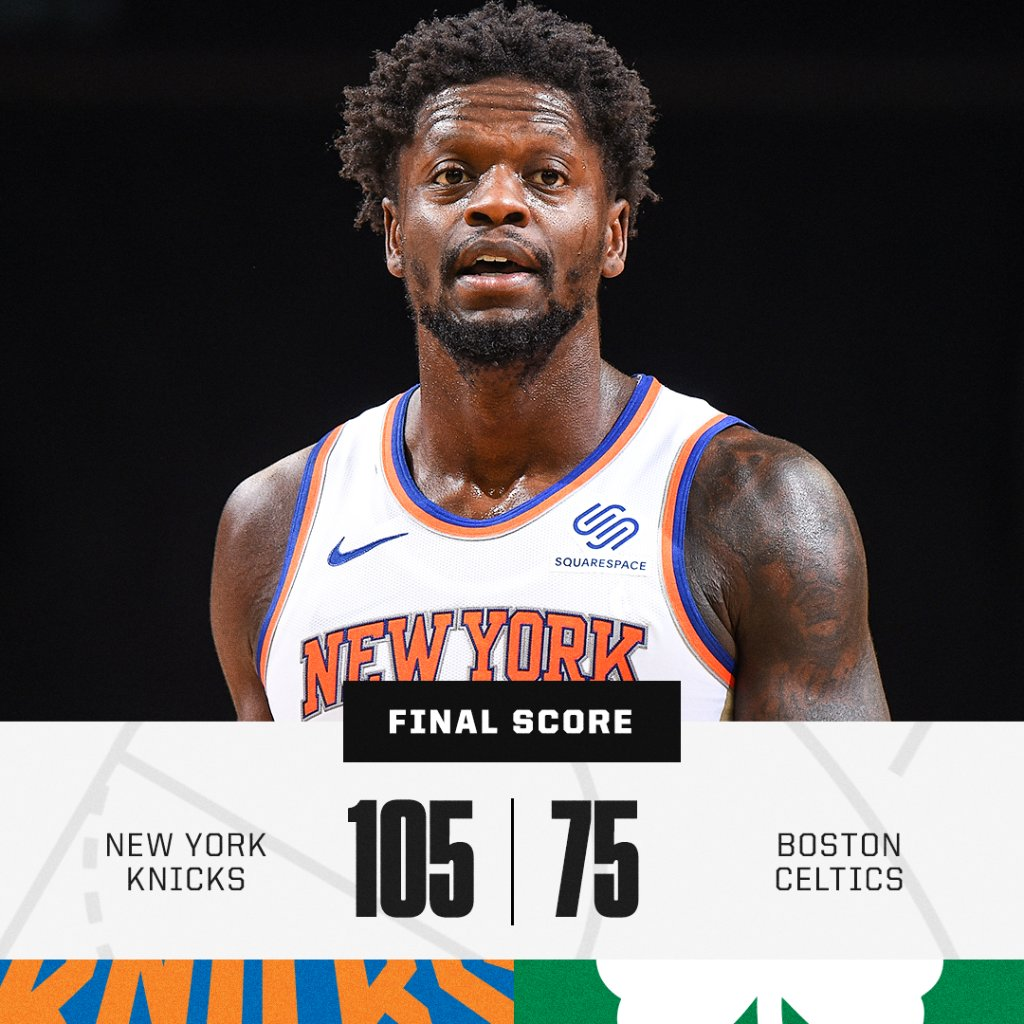 The Knicks blowout the Celtics by 30 and hold them to a season-low in points 😳