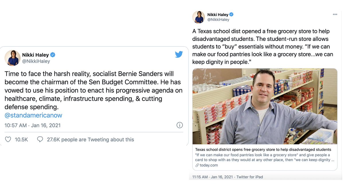 Replying to @StephanieKelton: Somewhere between 10:57 and 11:15 yesterday morning, socialism appears to have won her over.