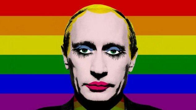 Weil #Putin gerade trendet, hier ein seit 2017 in Russland verbotenes Bild, weil es den Autokraten geschminkt zeigt. Wäre wirklich schade für Putin und Konsorten, wenn das Internet voll damit ist.