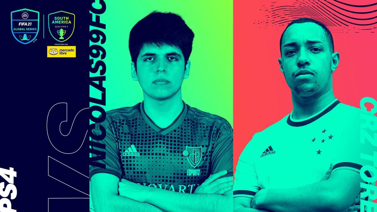 Ha llegado el momento de la gran final. ¿Quién será el campeón de PS4?  ➡️ @Nicolas99fc 🇦🇷 vs @Tore77_ 🇧🇷  📺   #FGS21⚽️ presentadas por @ML_Argentina.