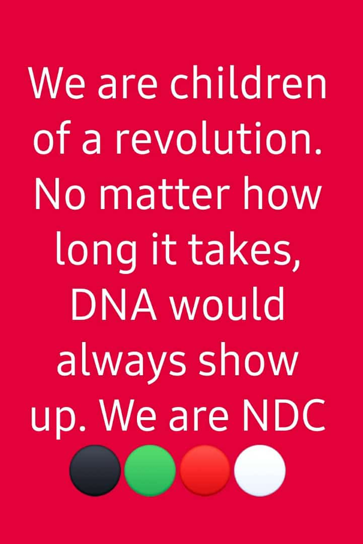 WE are first REVOLUTIONISTS, SOCIAL DEMOCRATS, and DECENTRALISTS! #NDCTWITTER #NDCElectionPetition