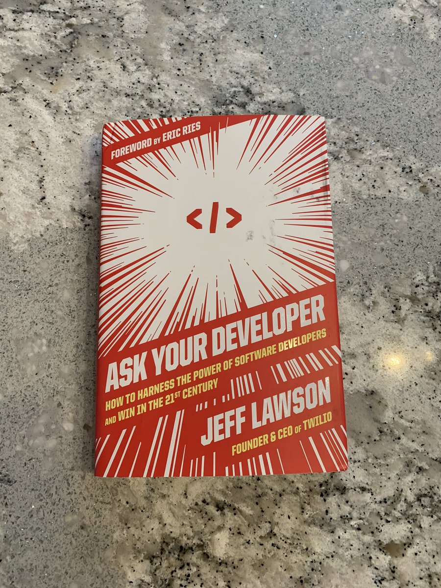 I got my copy of @jeffiel's book in the mail today. Can't wait to read it! :)  @twilio #AskYourDeveloper
