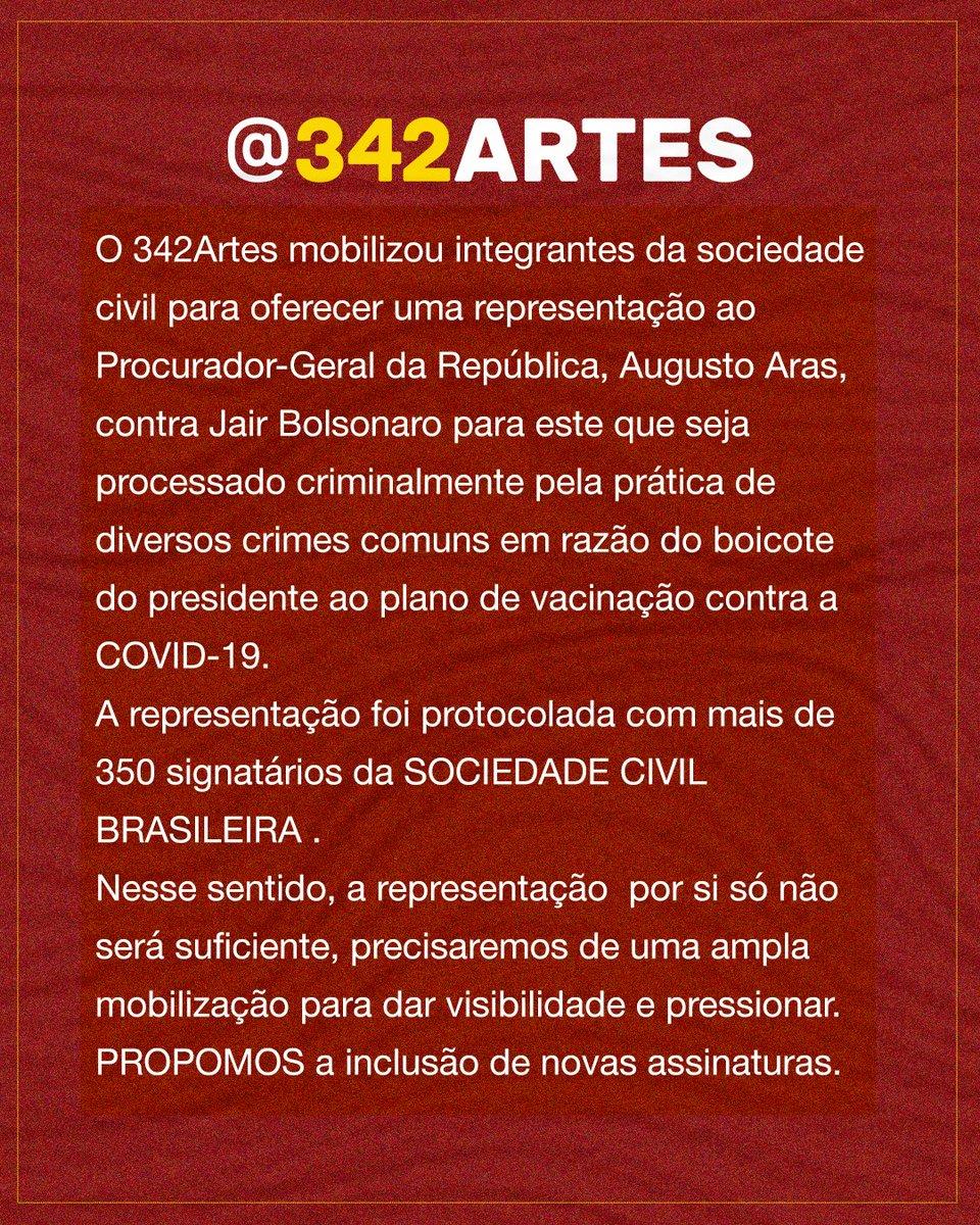 Participe você também dessa mobilização! Assine o abaixo-assinado e uso o filtro criado para campanha.      Não esqueça de marcar o @342artes e #343artes para compartilharmos essa ação.