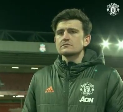 Ⓒ Time for some post-match reaction from the skipper – here's @HarryMaguire93 💬  🔴 #MUFC #️⃣ #LIVMUN 🏆 #PL