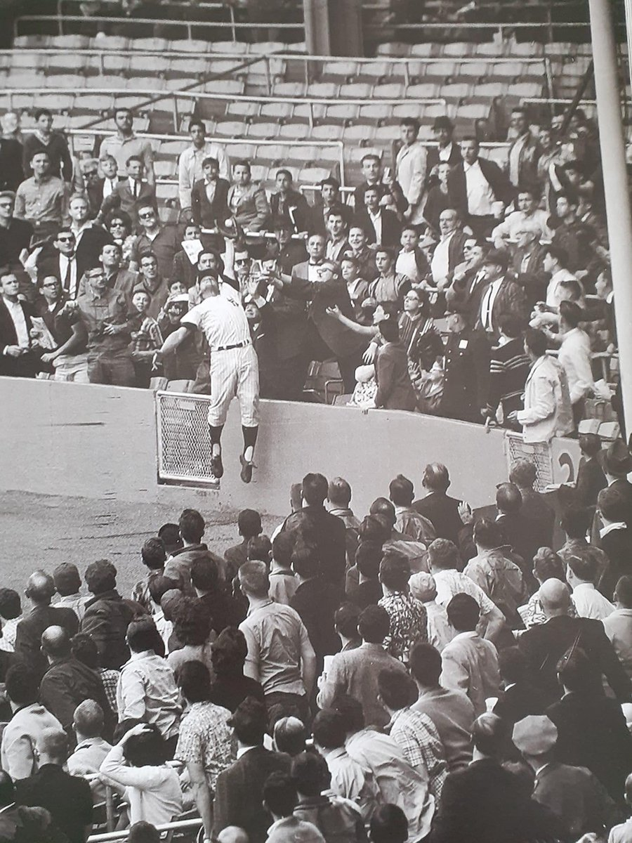 Roger Maris with some hops to steal a homerun away. 296ft down the right field line lol.