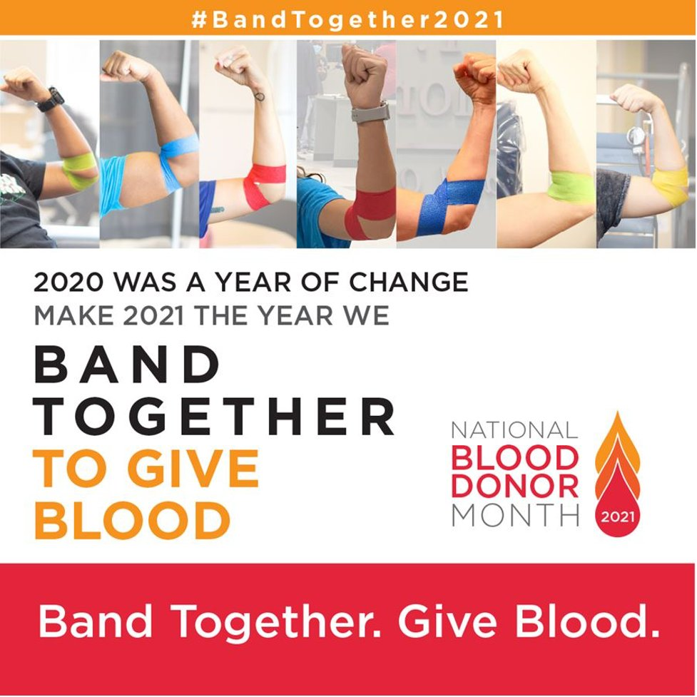 Blood and platelets are essential and lifesaving treatments, and donors are needed now more than ever. Take the pledge to donate in 2021 at @BCHBloodDonor:  #BandTogether2021 #GivePintsForHalfPints