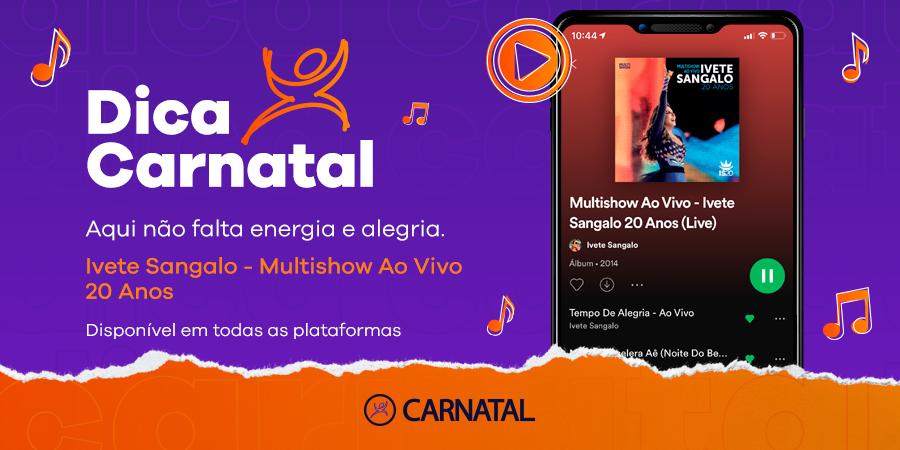 Bora começar o dia com aquela energia única de mainha @IveteSangalo?! 💃💃 #DicaCarnatal #Carnatal #IveteSangalo