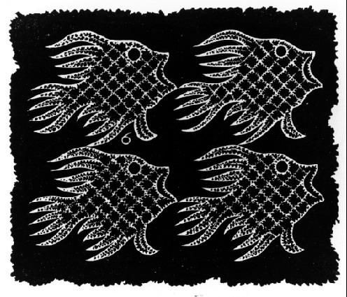 Plane-filling Motif with Fish and Bird, 1951 #mcescher #escher