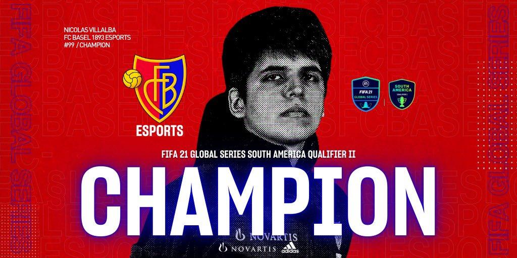 CHAAAMPION!!!!! ❄️🏆  @Nicolas99fc wins the FIFA21 #FGS21 SA Qualifier II 🏆 VAMOS NICO!!!!! #fcbesports