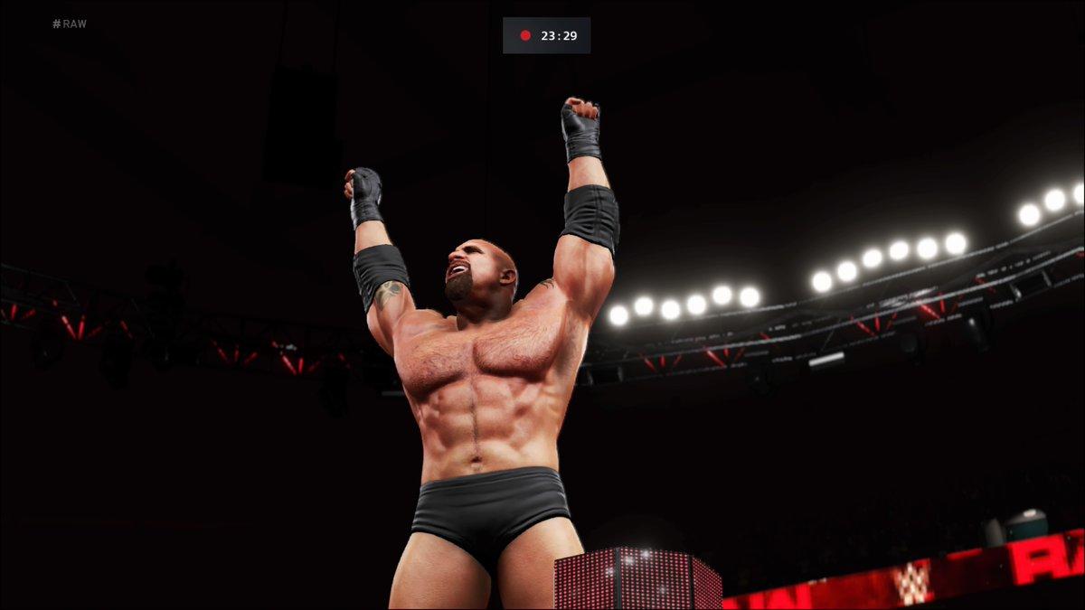 #Goldberg IS BACK!! The #WCW legend returned to team with #WWEChampion #ScottSteiner and beat #TheMiz, #JohnMorrison & #MattRiddle in a 2V3 #HandicapMatch!  #WWE #2K20 #WWE2K20 #RAW #WWERAW #NXT #WWENXT #SmackDown #Wrestle #Wrestling #ProWrestling