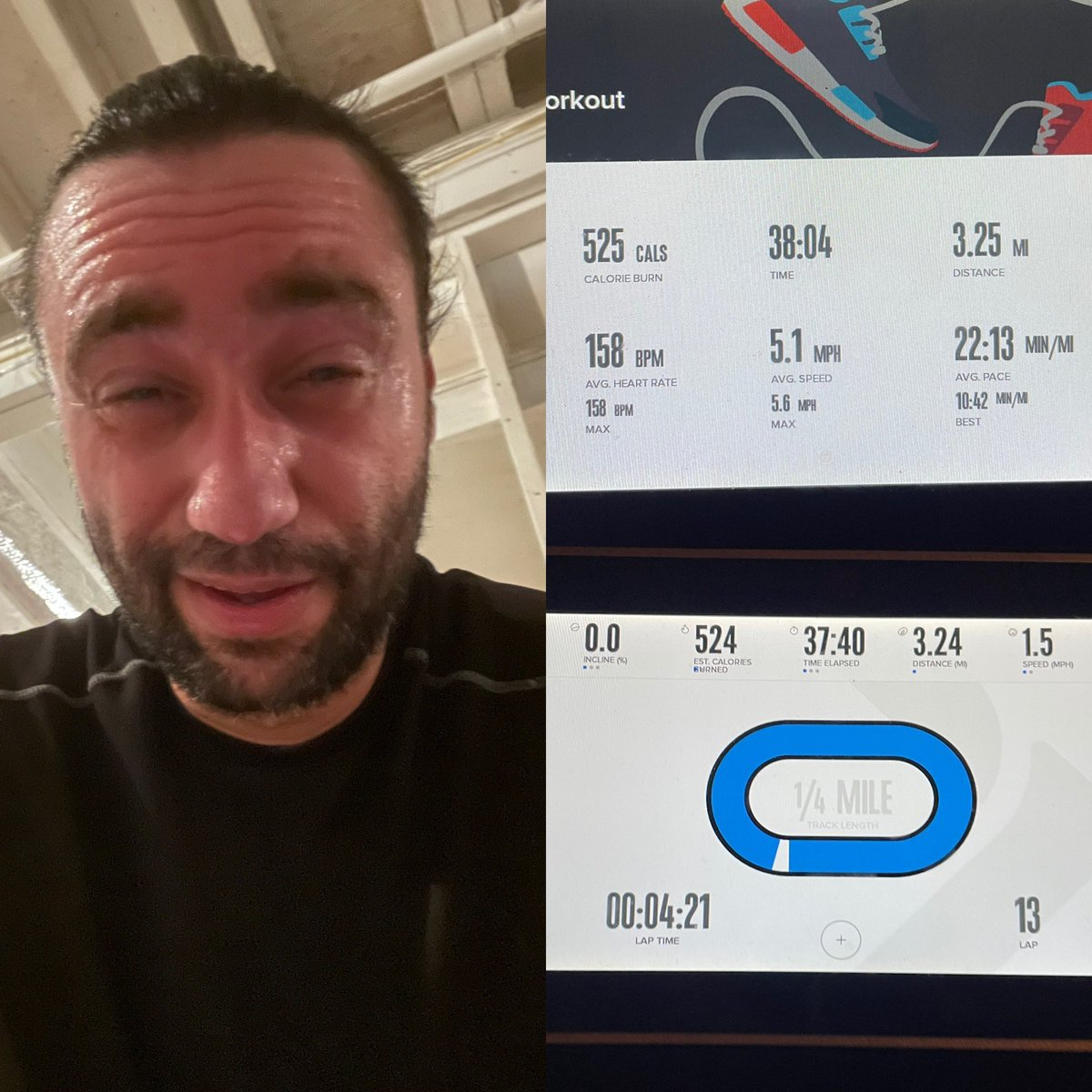 There's nothing like a little salty sweat in your eye on a perfectly good Sunday afternoon! 5th #5k #run of #2021 done!! #runner #instarun #runnersofinstagram #fit #fitness #health #healthy #exercise #treadmill #homegym