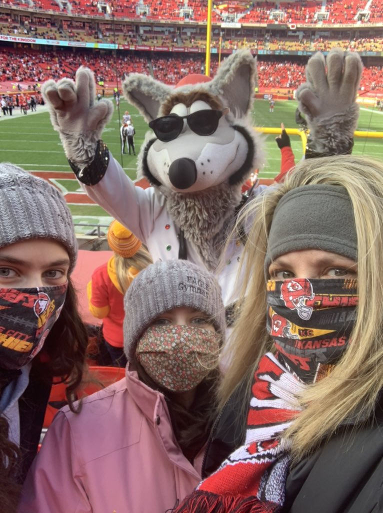 Having a blast with my daughters at the #Chiefs playoffs game! #RunItBack #ChiefsKingdom #KCWolf #CornerstonesofCare