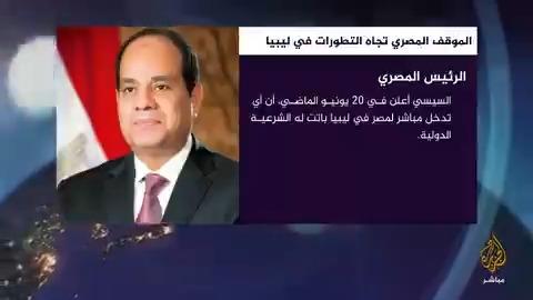 """السيسي """"الخطوط"""" المعلنة في ليبيا تهدف للحفاظ على المسار السياسي مصر المسائية"""