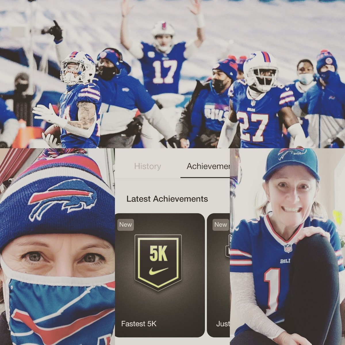Having a #victorysunday  💙 Bills won! ❤️ Ran my fastest 5k in 2 months 💙 Got my first #GoBills while running ❤️ Did I mention Bills won? #billsmafia #buffalobills #billswin #running @nikerunning @buffalobills #BillsByABillion