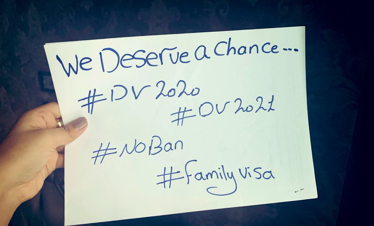 Raise our Hashtags Fighters 💪🏼💪🏼 #DV2021  #DV2020 #FamilyVisa #NoBan #Lamar #Ravens #BALvsBUF
