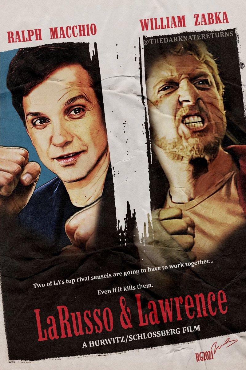 "I'd be first in line for this movie. Badass ""Tango & Cash""-inspired poster from @DarkNateReturns.   #CobraKai #fanart #netflix #karatekid #tv #film #movies #80s #nostalgia #classic #tangoandcash @netflix"