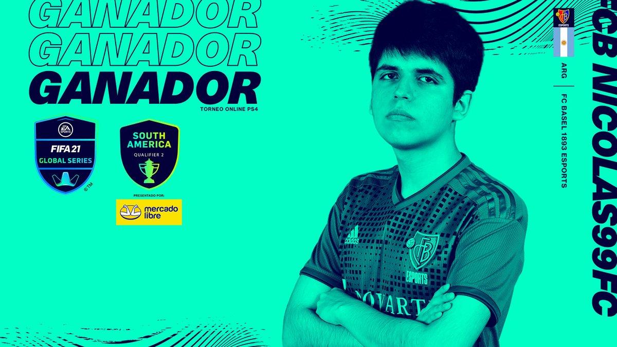 ¡@Nicolas99fc 🇦🇷 es el campeón del segundo torneo clasificatorio de las Global Series Sudamérica!   El torneo de PS4 se va de nuevo a Argentina. ¡Enhorabuena al jugador del @FCBasel1893!   📺    #FGS21⚽️ presentadas por @ML_Argentina.